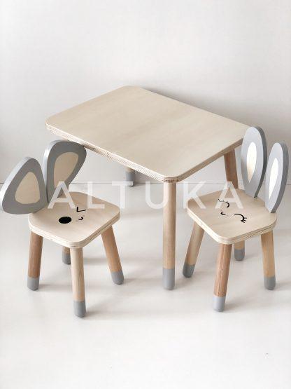 LEPUS Çocuk Sandalyesi (Emojili- küçük boy- ahşap)