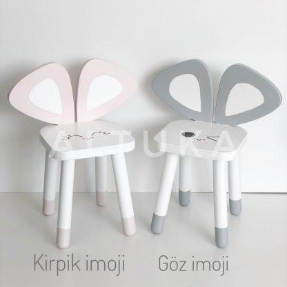 LEPUS Beyaz Çocuk Sandalyesi (küçük boy- ahşap)