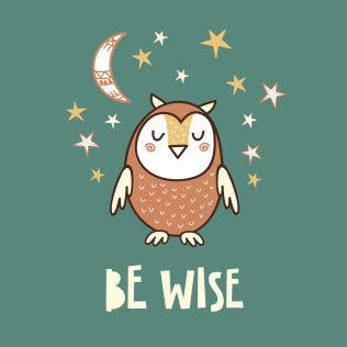 PUPPİS İskandinav Be Wise Poster Renkli