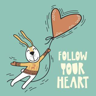 PUPPİS İskandinav Follow Your Heart Poster Renkli