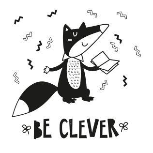 PUPPİS İskandinav Be Clever Poster